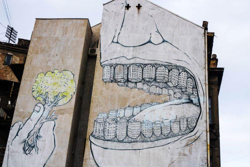 Urbanization is Killing Us - Bức tranh thay lời muốn nói cho việc Đô thị hóa đang dần giết chết môi trường sống. Photo by Boredpanda.