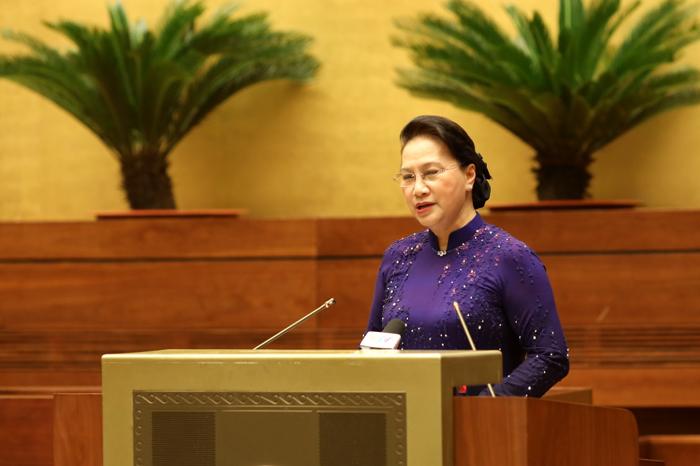 Chủ tịch Quốc hội Nguyễn Thị Kim Ngân gặp mặt Đoàn đại biểu 54 dân tộc tham dự Đại hội đại biểu toàn quốc các DTTS Việt Nam lần thứ II năm 2020