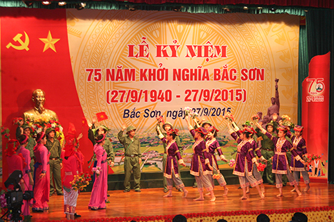 Lễ kỷ niệm 75 năm khởi nghĩa Bắc Sơn diễn ra trong không khí trang trọng