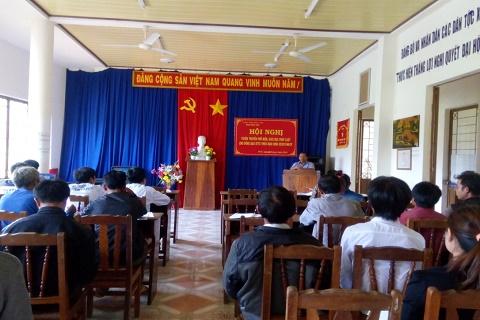 Hội nghị tuyên truyền, phổ biến pháp luật tại xã Pờ Ê, huyện Kon Plông