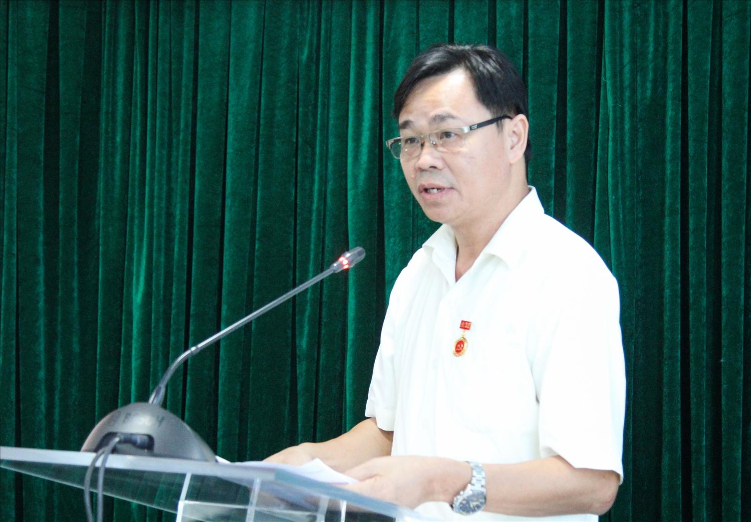 Đồng chí Lưu Xuân Thủy phát biểu tại buổi Lễ